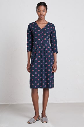 Organic cotton, Below the knee Trennick Dress - Seasalt