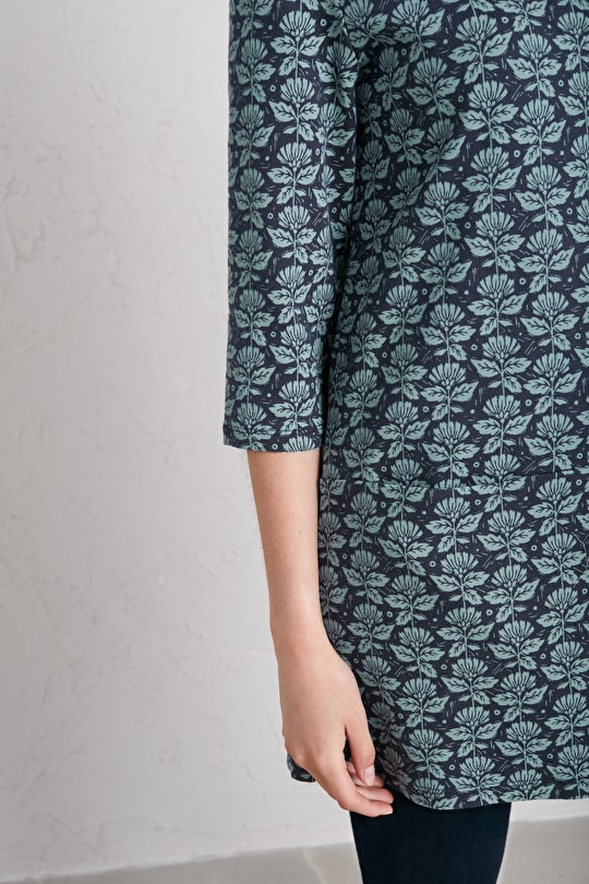 Relaxed Fit, Cotton Jersey Tunic Top - Seasalt