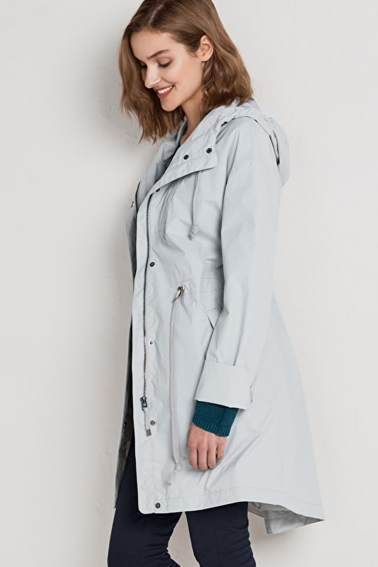 Porthchapel Mac. Feminine Waterproof Parka Coat - Seasalt