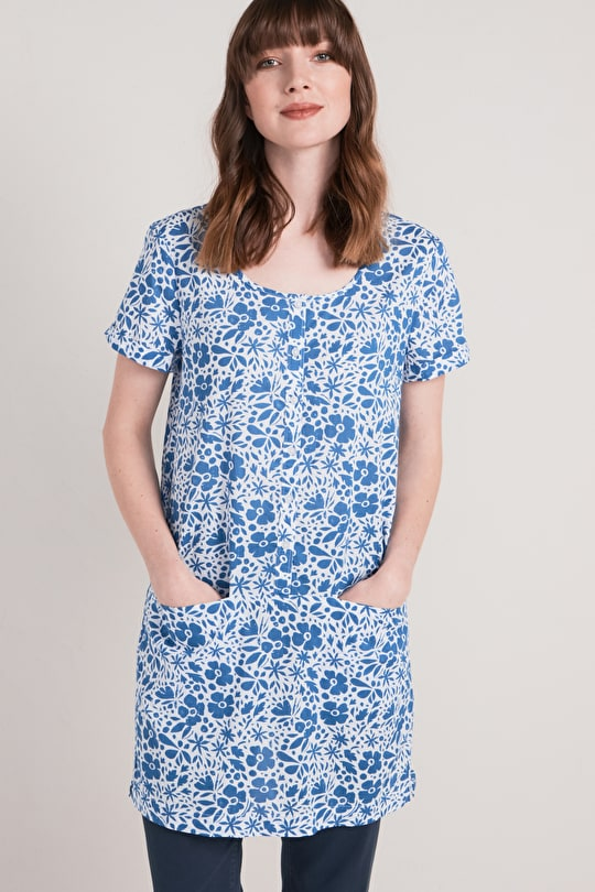 Poetic Tunic, Cotton Voile Dress With Pockets  - Seasalt