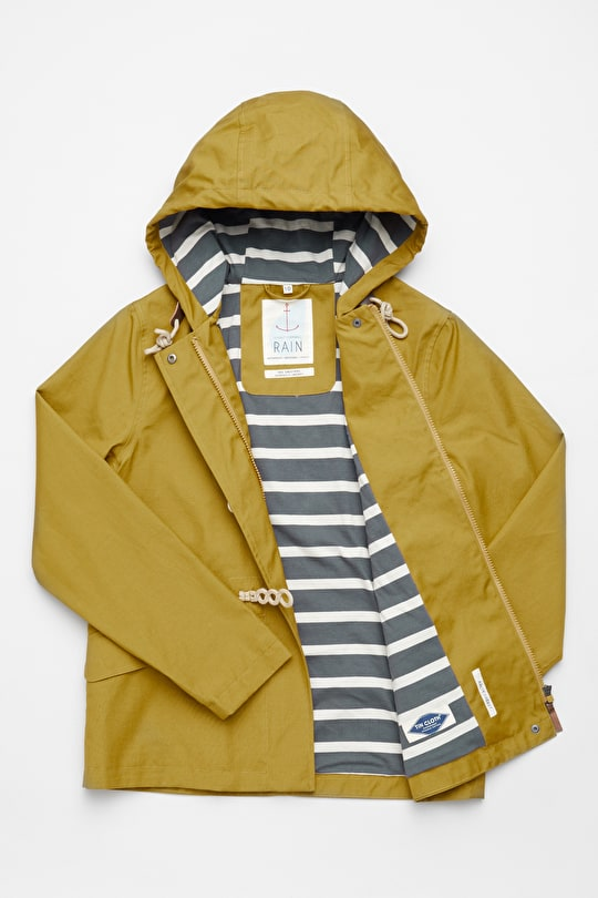 Original Seafolly Jacket. Women's Yellow Tin Cloth Raincoat - Seasalt
