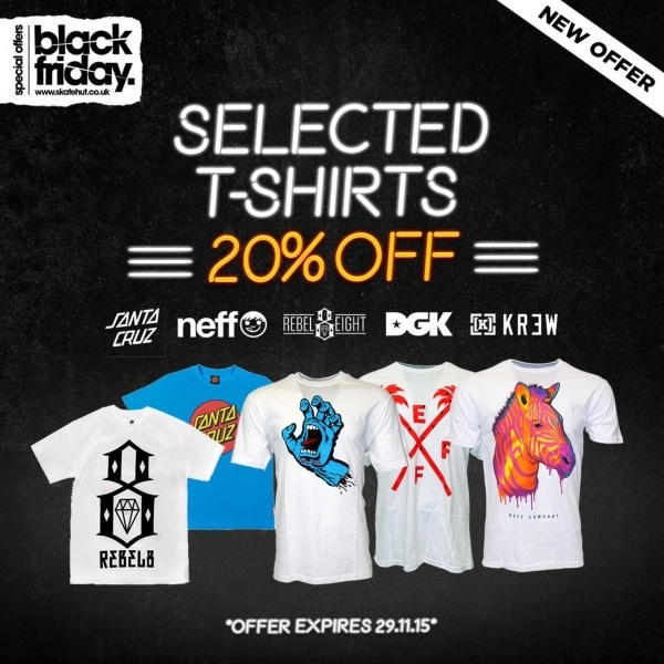 20% Off Selected T-Shirts