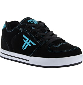 Fallen Patriot Youth Skate Shoes - Black/Cyan
