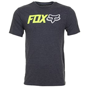 Fox Obsessed T-Shirt - Heather Black