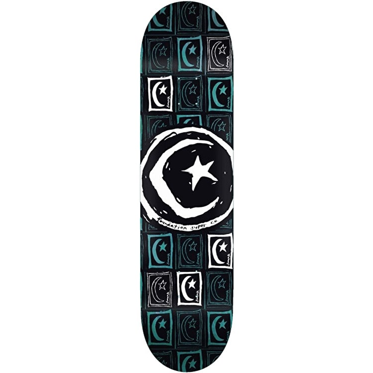 Foundation Star & Moon Square Repeat Skateboard Deck - 8.5""