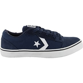 Converse Badge II Youth Skate Shoes - Athletic Navy