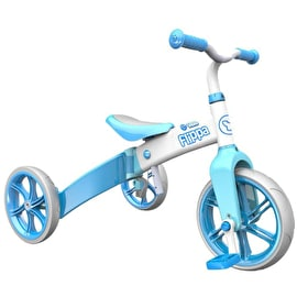 Y-Volution Y Velo Flippa Balance Bike - Blue/White
