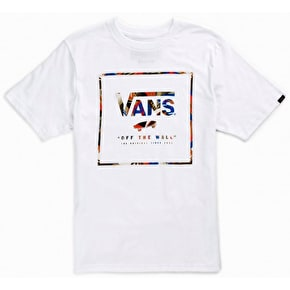 Vans Logo Box Fill Kids T-Shirt - White