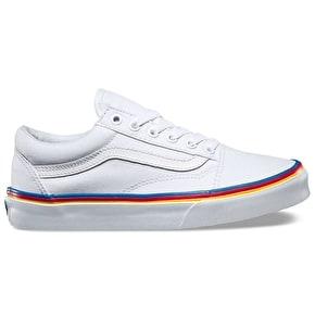 Vans Old Skool Shoes - (Rainbow Foxing) True White