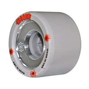 ATOM Boom Alloy Core 59mm Quad Derby Wheels (4pk) Grey (XFirm)