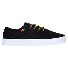 DVS Aversa Skate Shoes - Black/Rasta Canvas