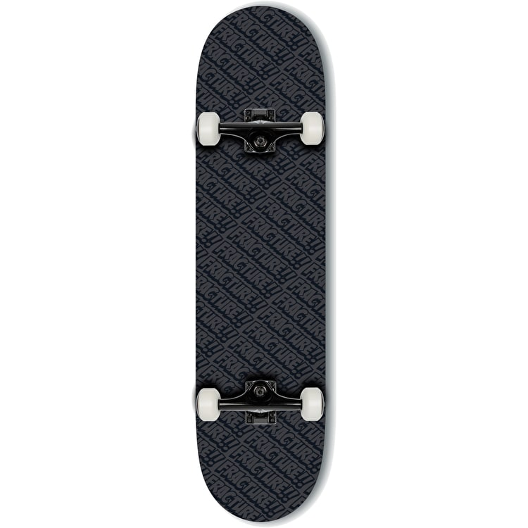 """Fracture All Over Comic Complete Skateboard - Black 8.25"""""""