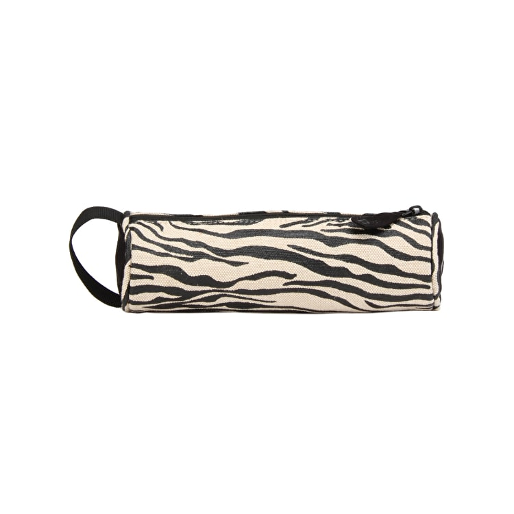Mi-Pac Canvas Zebra Pencil Case - Black/White