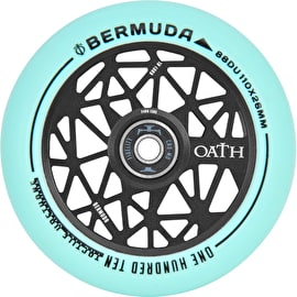 Oath Bermuda Alloy Core Scooter Wheel 110mm - Anodised Black/Teal