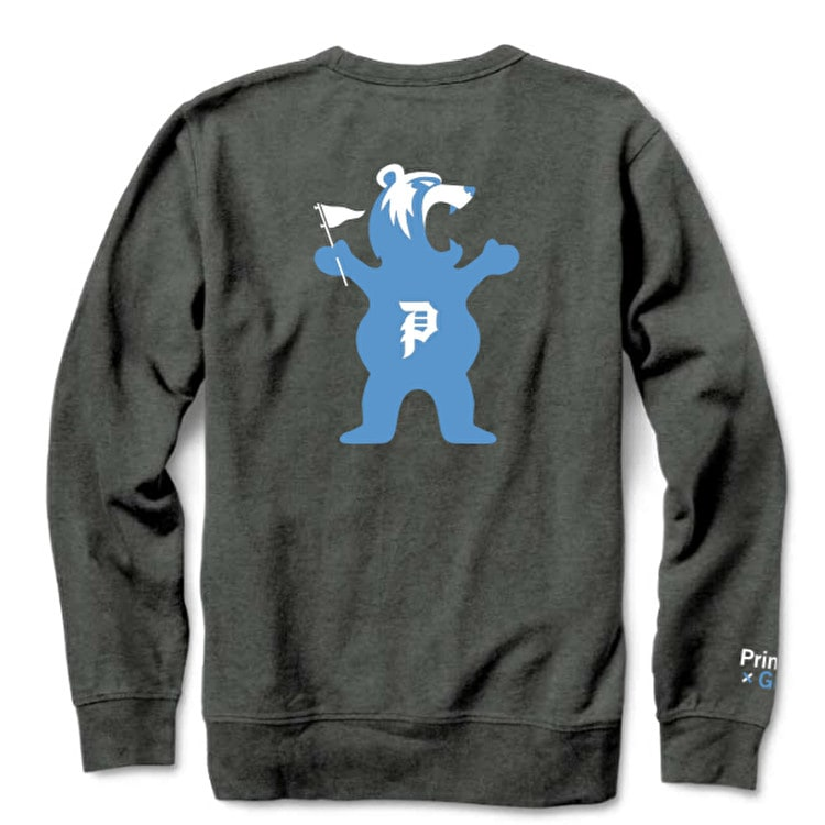 Primitive x Grizzly Bear Crew Neck - Charcoal Heather