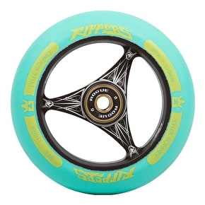 Rogue Ultrex 110mm TBONE Ripper Scooter Wheel - Black/Aqua