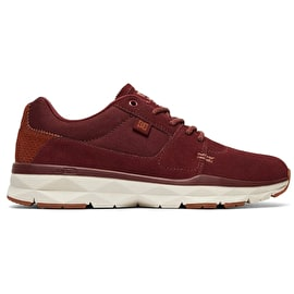 DC Player SE Skate Shoes - Burgundy/Tan