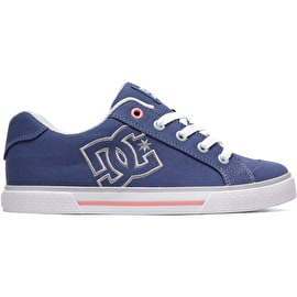 DC Chelsea TX Girls Skate Shoes - Blue/Grey