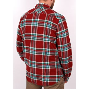 Diamond Supply Flannel Shirt - Burgudy