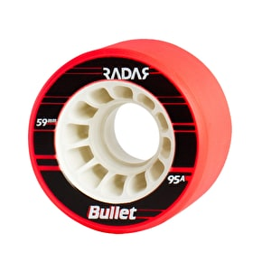 Radar Bullet 59mm Quad Derby Wheels 95A Red (4pk)