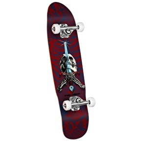 Powell Peralta Mini Skateboard - Skull & Sword Blue/Red 8