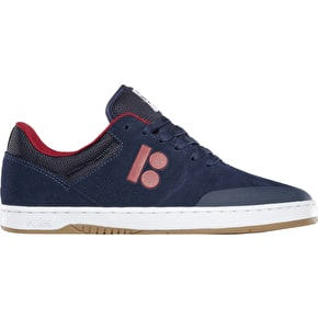 Etnies x Plan B Marana Skate Shoes - Navy/Red/White
