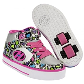 B-Stock Heelys X2 Cruz - Silver/Multi/Leopard - UK 2 (Used)