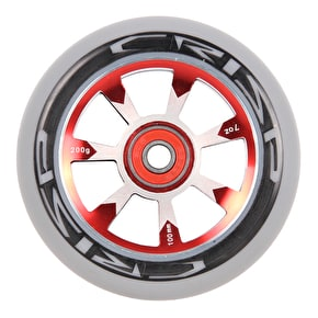 Crisp Hollowtech 100mm Scooter Wheel - Grey/Red