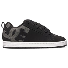 DC Court Graffik Skate Shoes - Black Wash