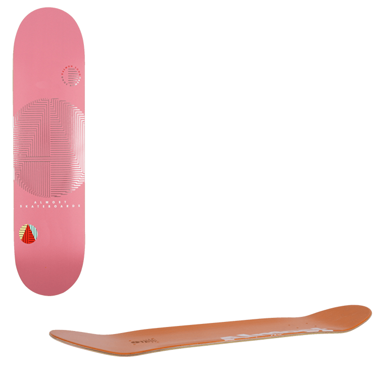 """Almost A+ Skateboard Deck 8.125"""" - Pink"""