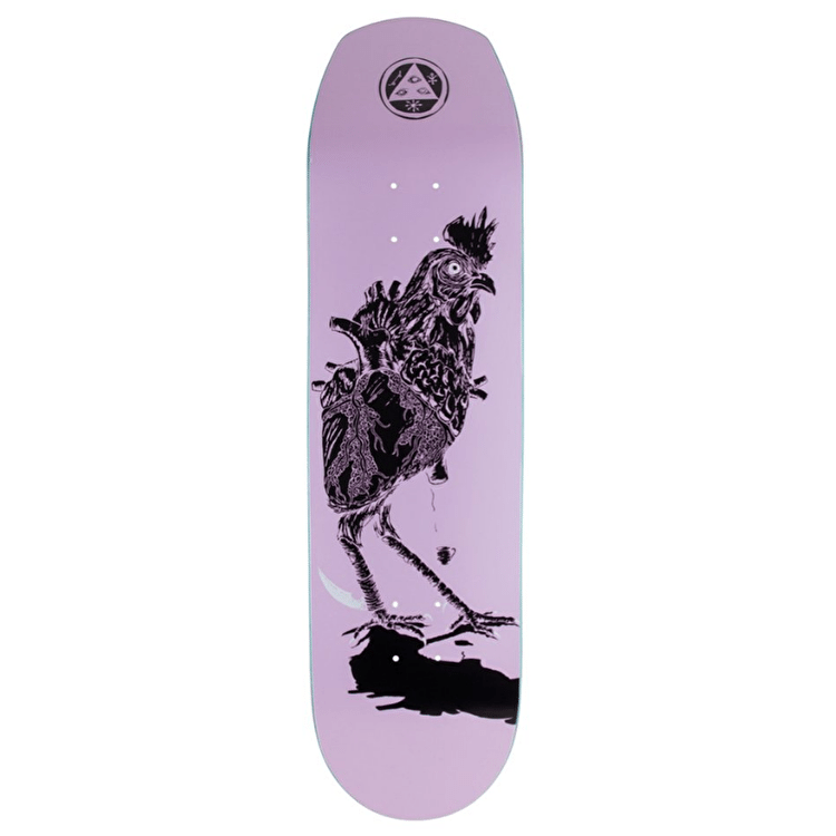 Welcome Cage Free Heart On Helm Of Awe 2.0 Skateboard Deck - 8.38""