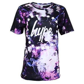 Hype Womens T-Shirt - Pink Smudge