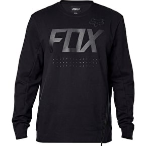 Fox Brawled Tech Crew Fleece - Black