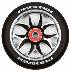 Phoenix F8 Alloy Core 110mm Scooter Wheel x 1 - Black/Black
