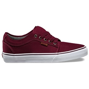 Vans Chukka Low Skate Shoes - (10 Oz/ Canvas) Port/White