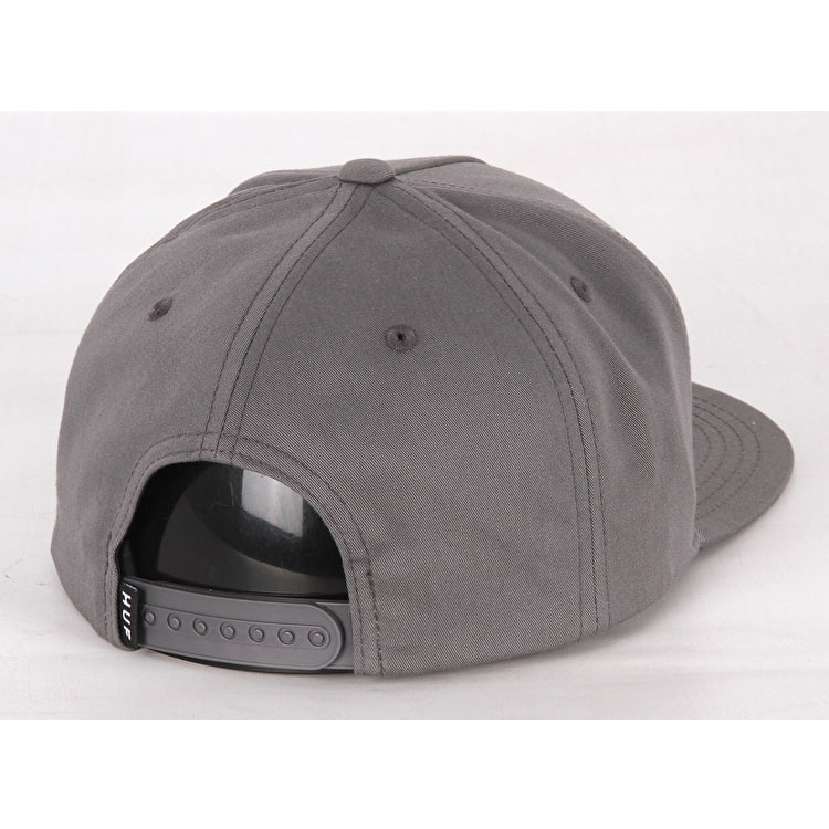 Huf Triple Triangle Snapback Cap - Charcoal
