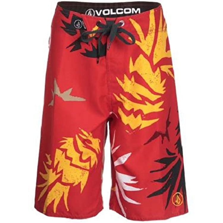 Volcom Boy's Lada Lane Boardshorts Why Not - Red