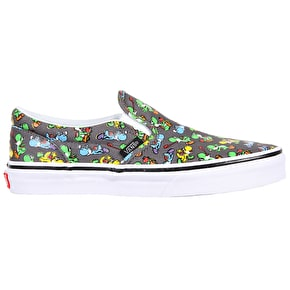 Vans Classic Slip-On Kids Shoes - (Nintendo) Yoshi/Pewter