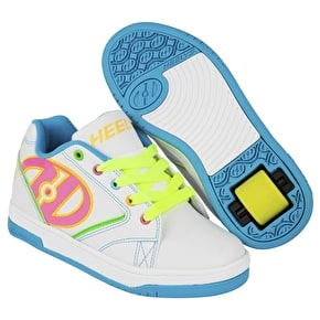 B-Stock Heelys Propel 2.0 - White/Neon Multi - UK 4 (stained tongue)