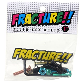 Fracture Allen Skateboard Truck Bolts - Coloured 1