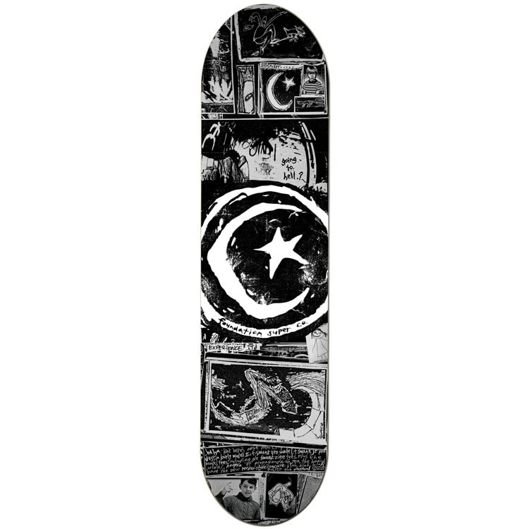 Foundation Star & Moon Zine Team Skateboard Deck - 8.5""