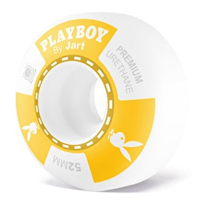 Jart x Playboy Poker Skateboard Wheels - Yellow 52mm