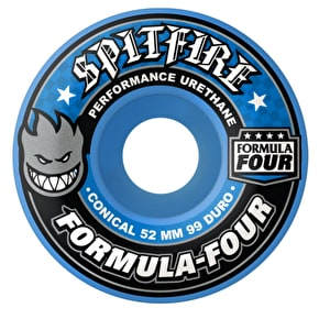 Spitfire Formula Four 99a Conical Skateboard Wheels - Blue Freeze 54mm