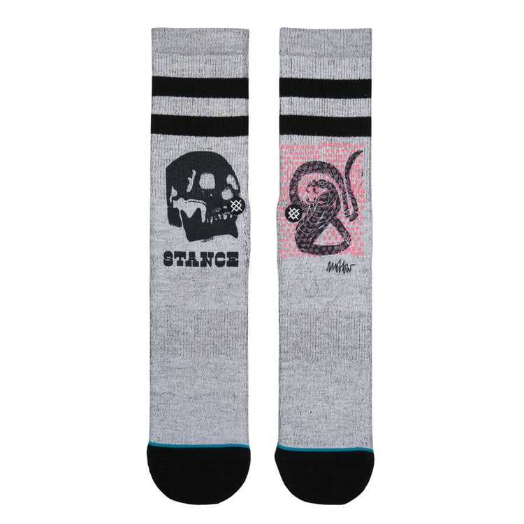 Stance Oblow Snake Socks - Grey