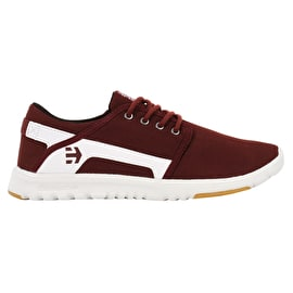 Etnies Scout Skate Shoes - Maroon/White