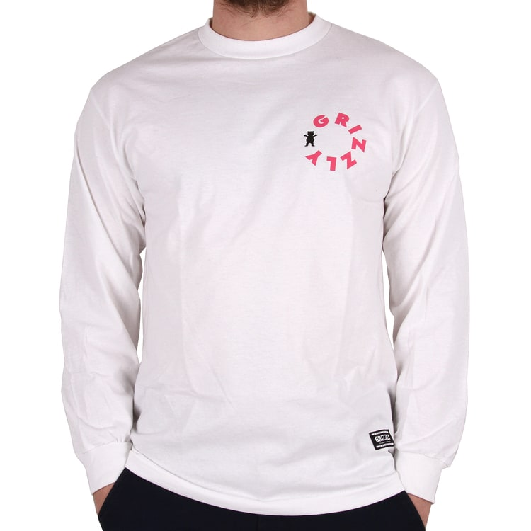 Grizzly Pipeline Longsleeve T-Shirt - White