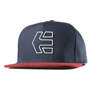 Etnies Icon 7 Snapback Cap - Red/Navy