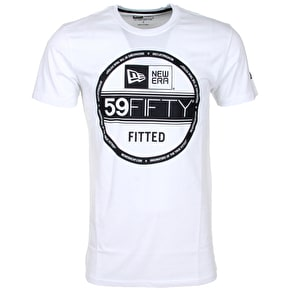 New Era 59fifty Visor Tee - White