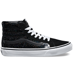 Vans Sk8-Hi Slim Shoes - (Patent Galaxy) Black/White