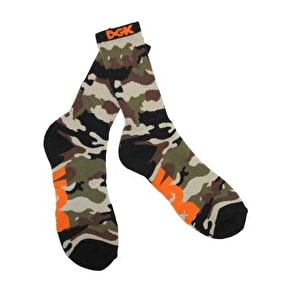 DGK Assault Crew Socks - Army/Black